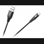 Kabel USB > Lightning  100cm TPE + nylon REBEL czarny